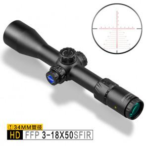 Прицел оптический HD/34 FFP 3-18x50 SFIR-Discovery